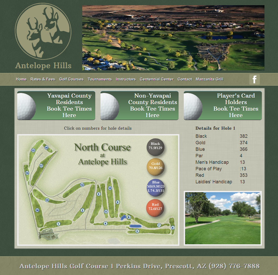 North Course Hole 1   Antelope Hills